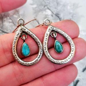 Vintage Southwest Sterling Turquoise Earrings